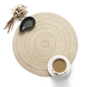 Set napperons de table en fil de coton antidérapant