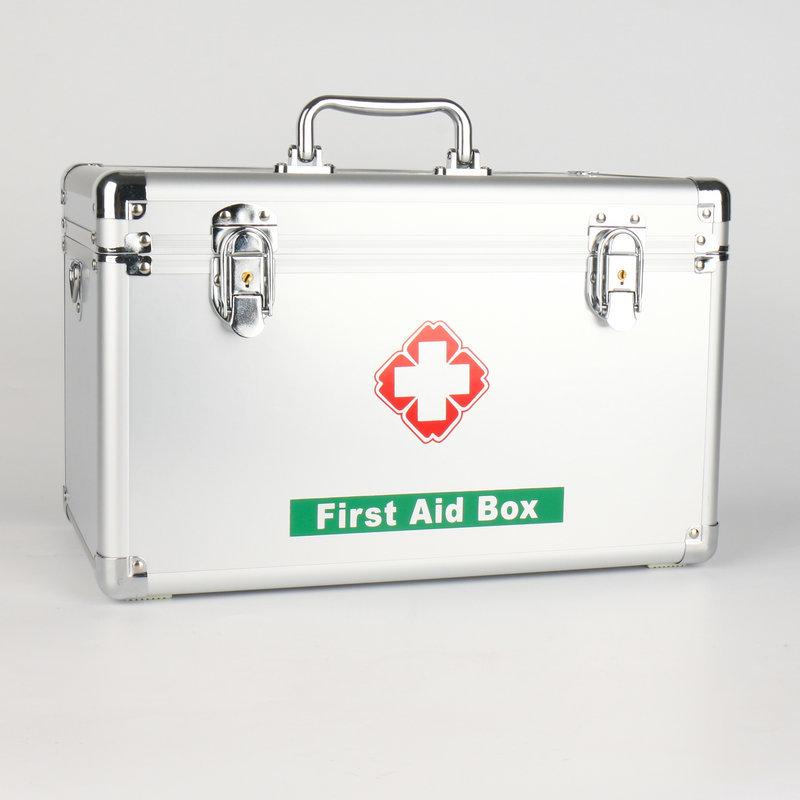 Boîte médicale de premiers secours en alliage d'aluminium