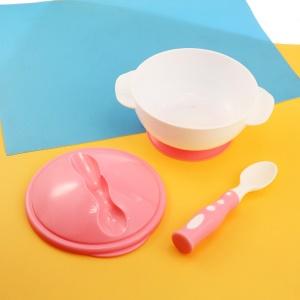 Ensemble bol+ cuillère en plastique pour bébé