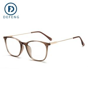 Monture de lunettes en métal hybride résistant à la lumière bleue