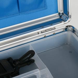 Boîte  médicale d'urgence en alliage d'aluminium de 17 pouces