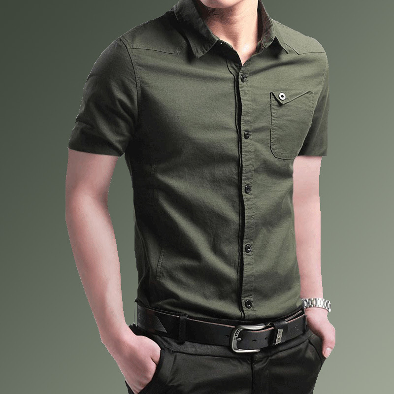 Chemise homme manches courtes coupe slim