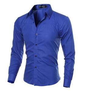 Chemise à manches longues pour homme Slim Fit Mesh