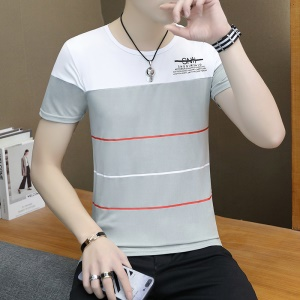 T-shirt manches courtes pour homme rayures