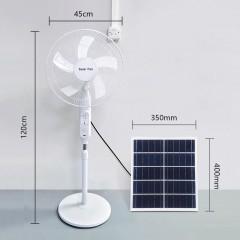 Ventilateur solaire sur pied avec télécommande